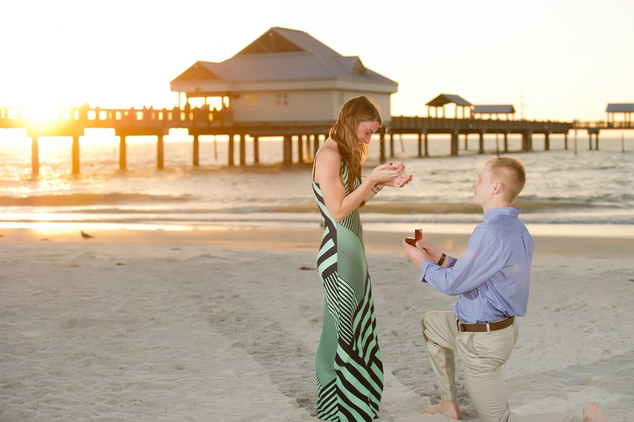 Clearwater Beach Marriage Proposal_ engagement photos during sunset_26_low