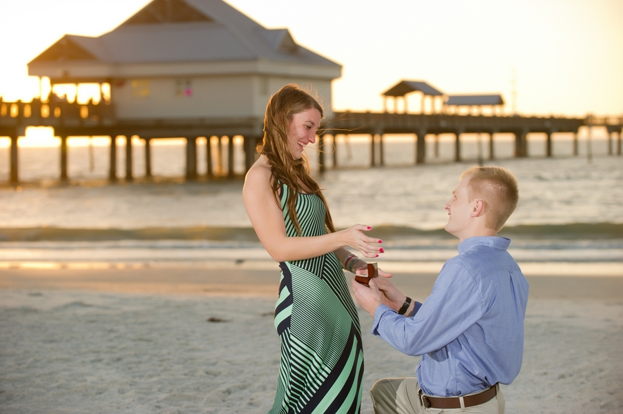 Clearwater Beach Marriage Proposal_ engagement photos during sunset_27_low