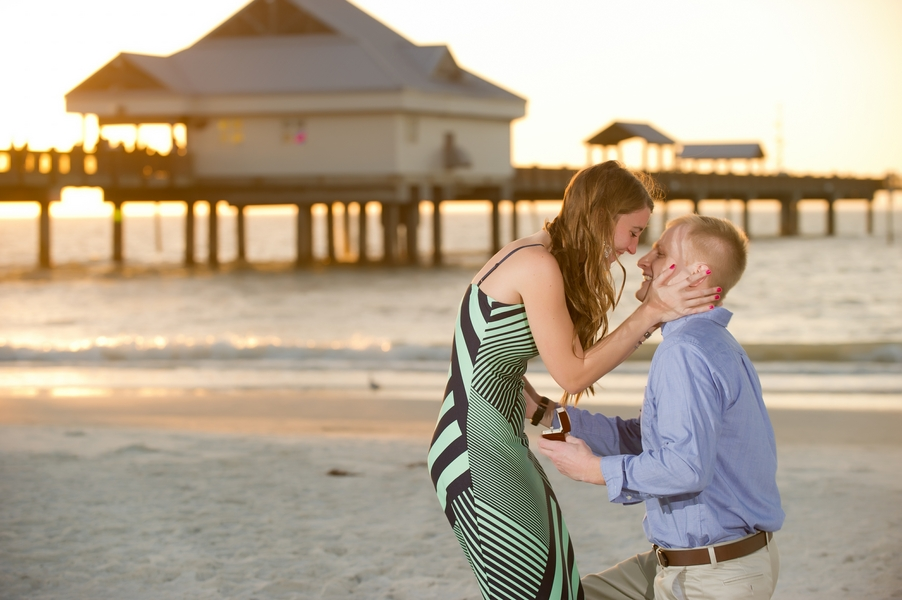 Clearwater Beach Marriage Proposal_ engagement photos during sunset_28_low