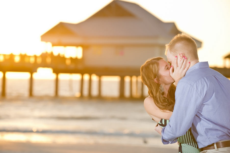 Clearwater Beach Marriage Proposal_ engagement photos during sunset_29_low