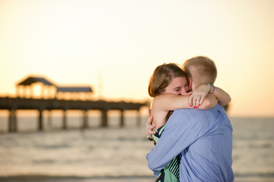 Clearwater Beach Marriage Proposal_ engagement photos during sunset_42_low