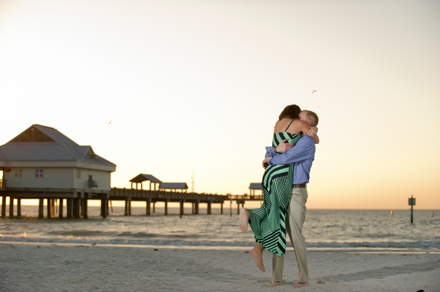 Clearwater Beach Marriage Proposal_ engagement photos during sunset_48_low