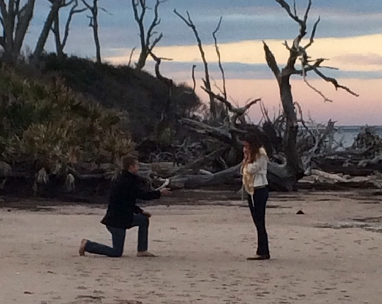 Image 6 of Christie and Alex | Engaged at Driftwood Beach