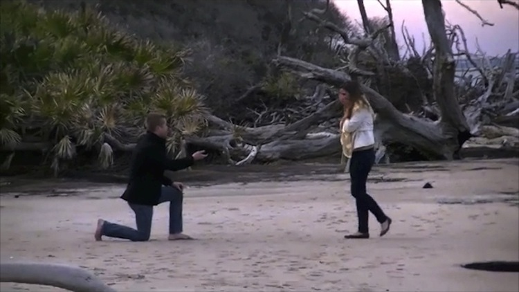 Image 5 of Christie and Alex | Engaged at Driftwood Beach