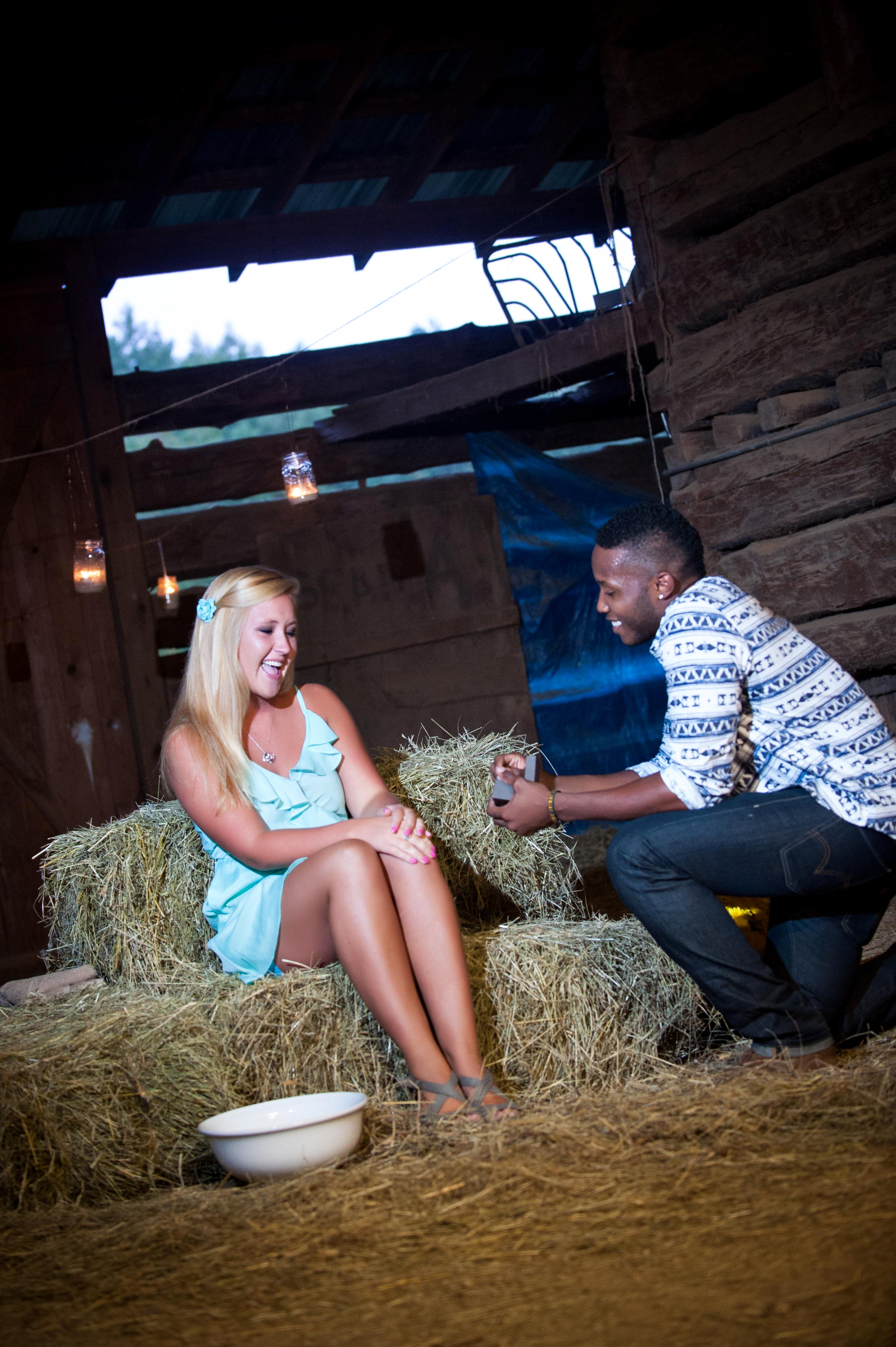 Image 8 of Jessica and De'Angelo | Barn-Style Proposal