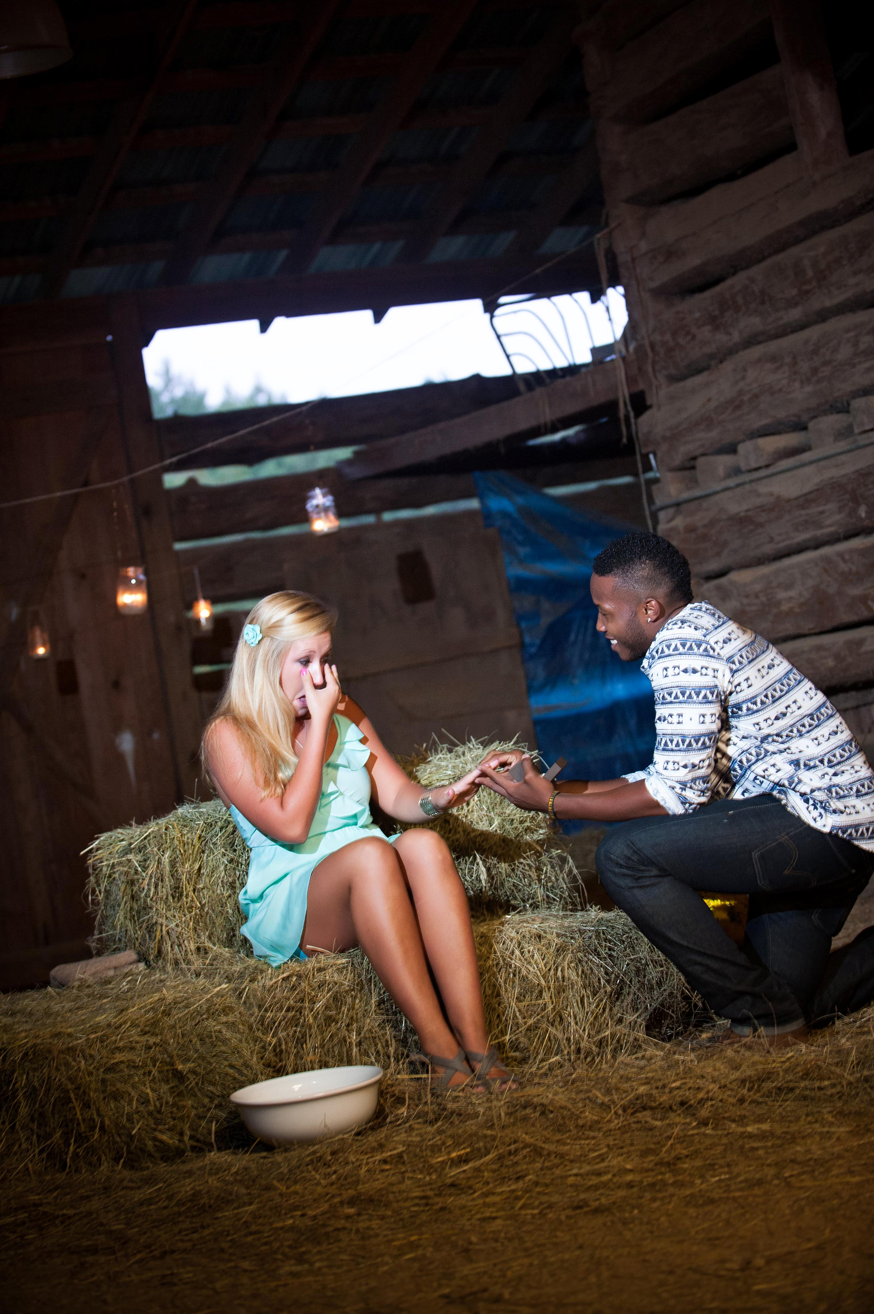Image 9 of Jessica and De'Angelo | Barn-Style Proposal