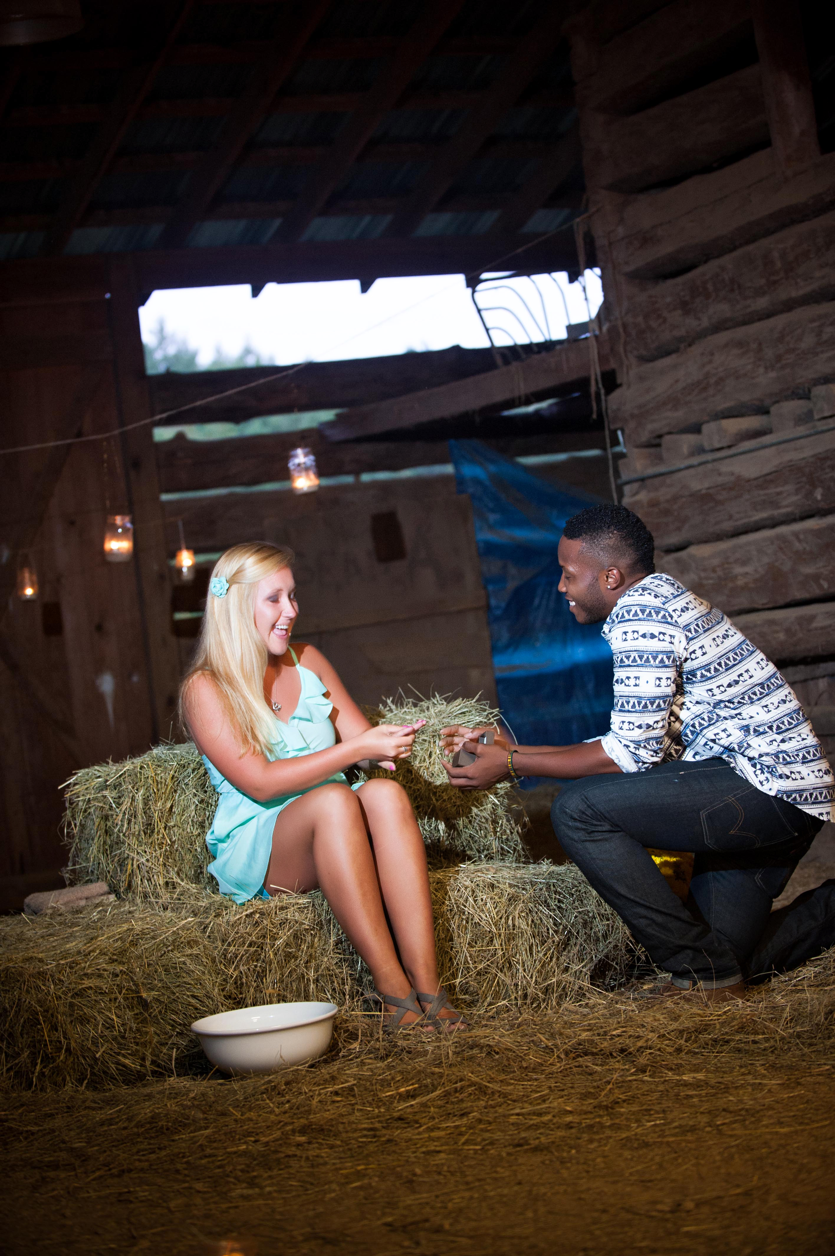 Image 10 of Jessica and De'Angelo | Barn-Style Proposal