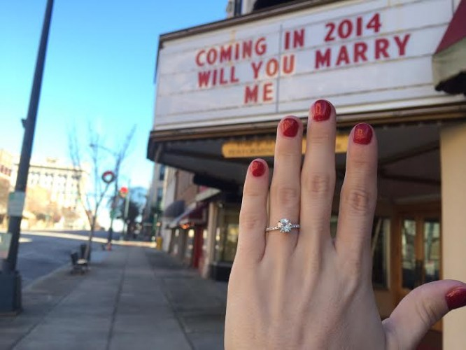 marquee marriage proposal