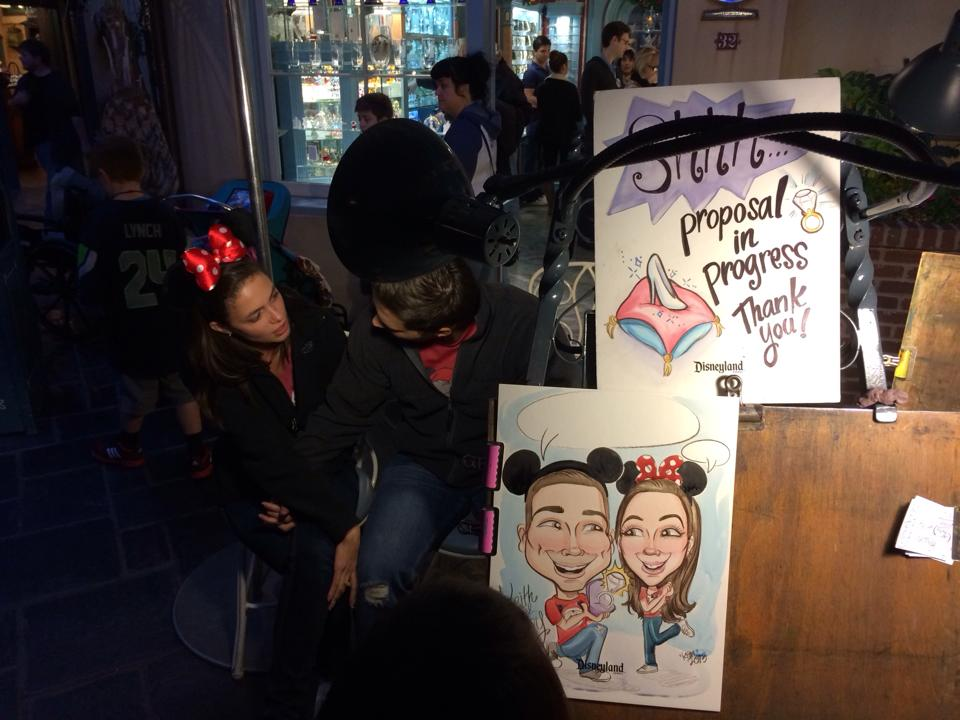Image 3 of Courtney and Keith's Disneyland Caricature Proposal