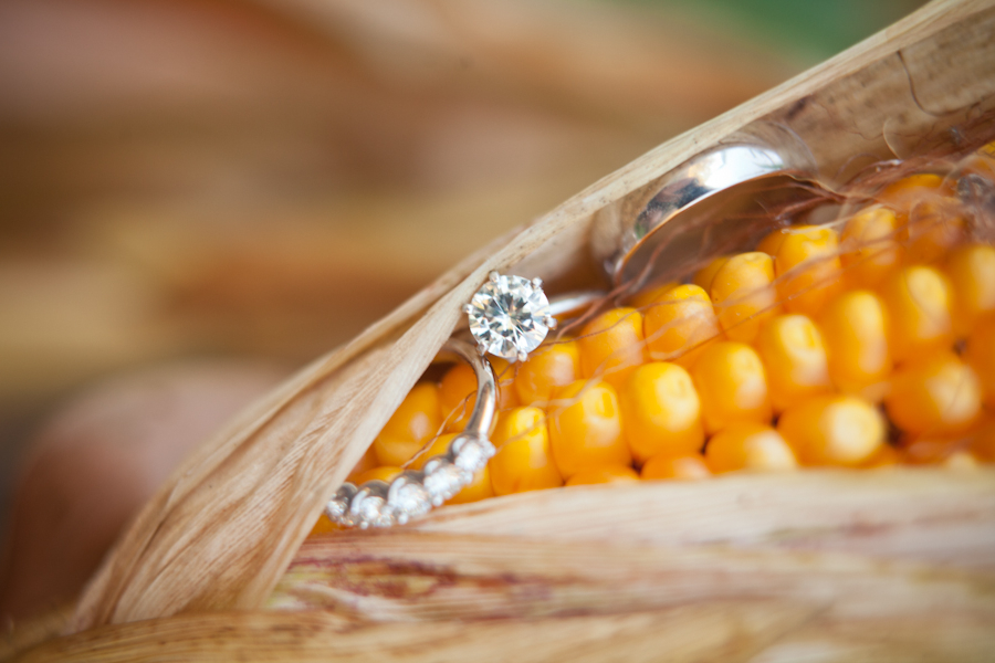 engagement ring in food
