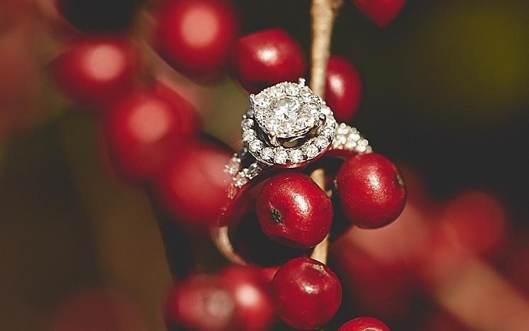 engagement rings and food