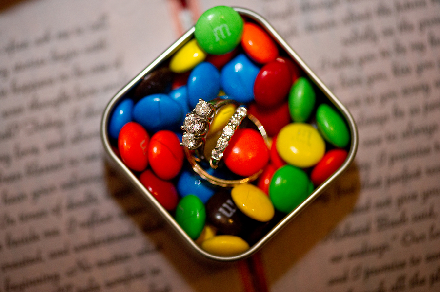 engagement rings and m&ms