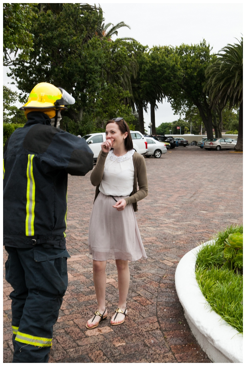 Image 5 of Firefighter Marriage Proposal