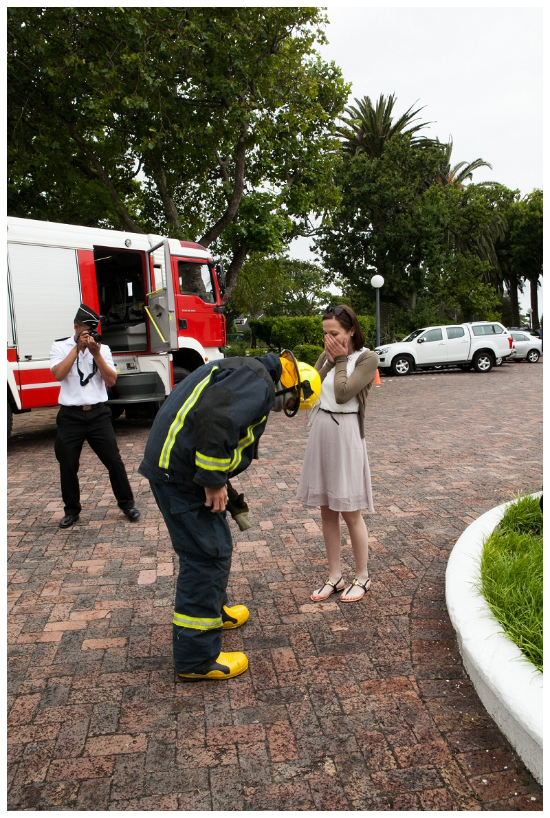 Image 6 of Firefighter Marriage Proposal