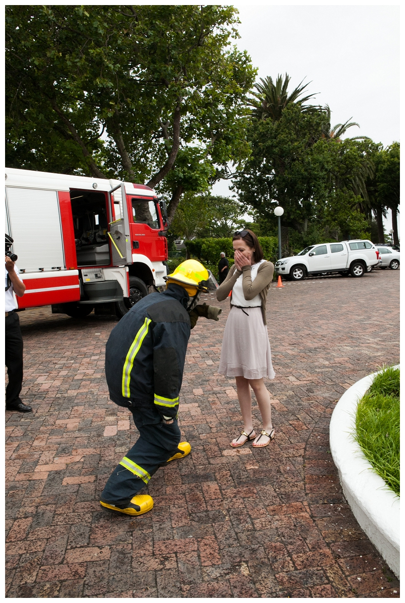 Image 7 of Firefighter Marriage Proposal