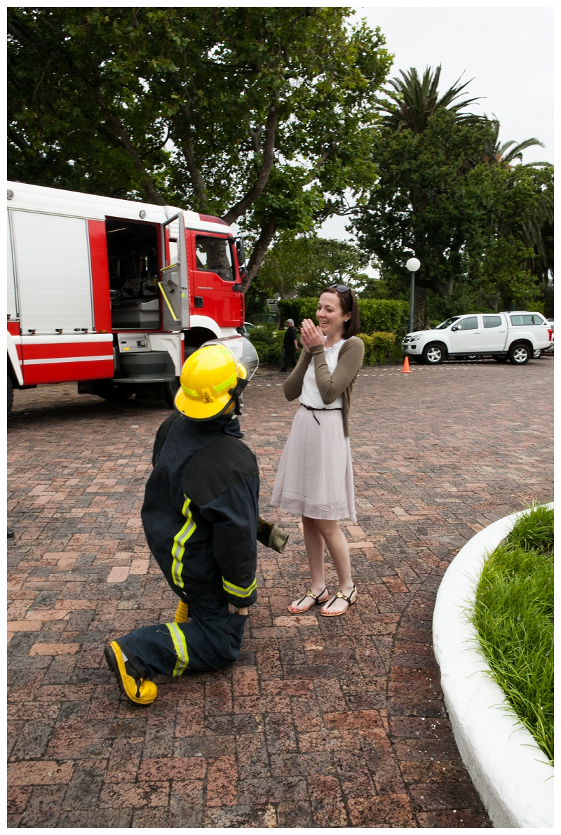 Image 8 of Firefighter Marriage Proposal