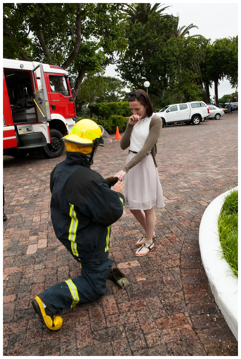 Image 10 of Firefighter Marriage Proposal