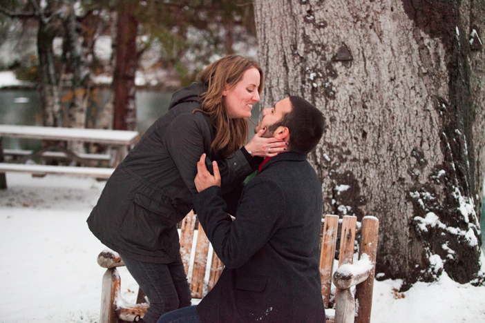 Image 6 of Josh and Natalie | Snowy Surprise Proposal