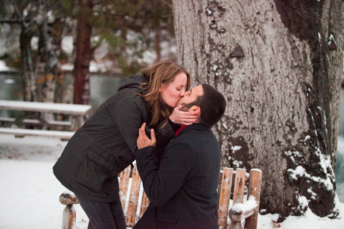 Image 7 of Josh and Natalie | Snowy Surprise Proposal