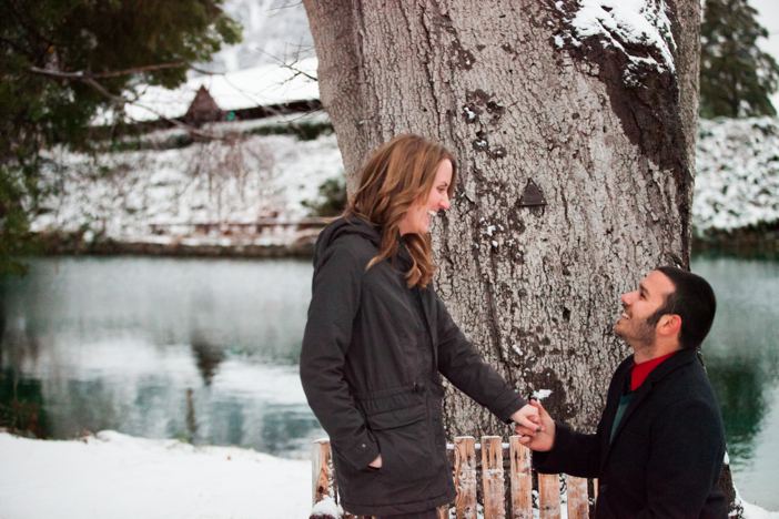 Image 4 of Josh and Natalie | Snowy Surprise Proposal