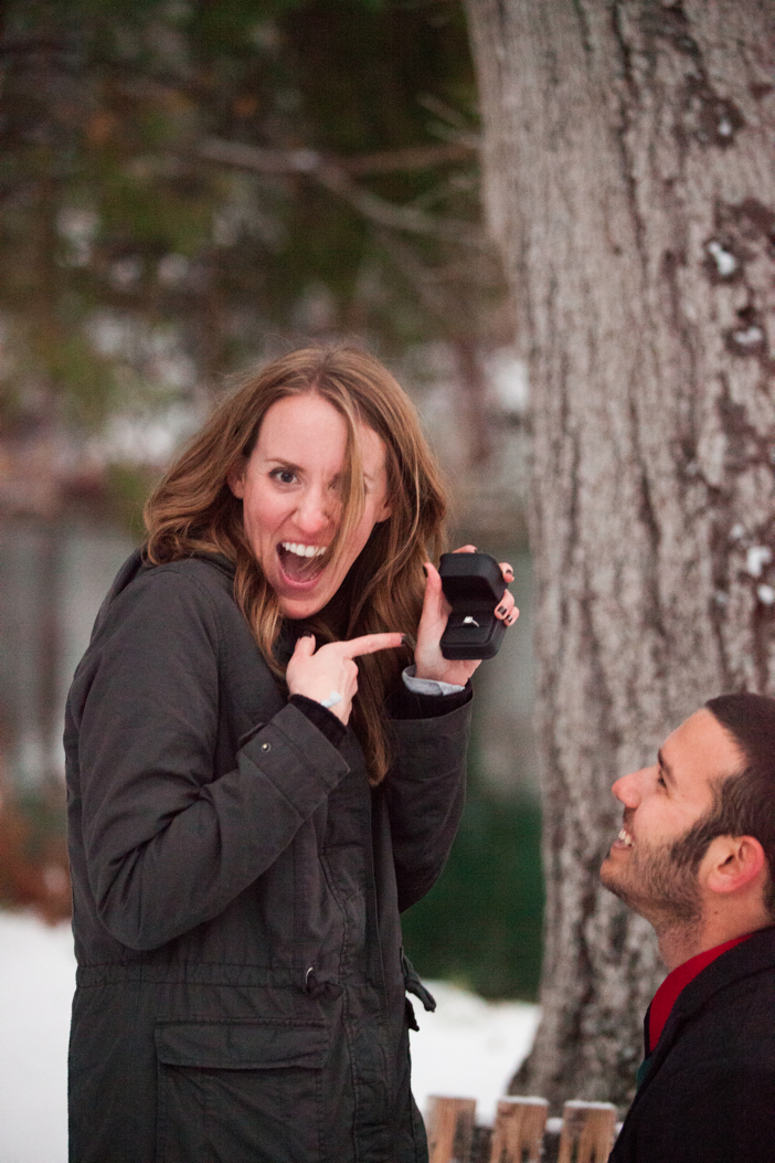 Image 15 of Josh and Natalie | Snowy Surprise Proposal