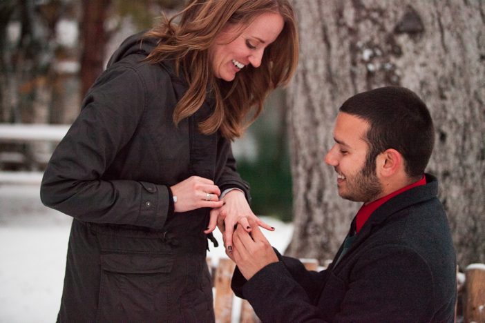 Image 9 of Josh and Natalie | Snowy Surprise Proposal