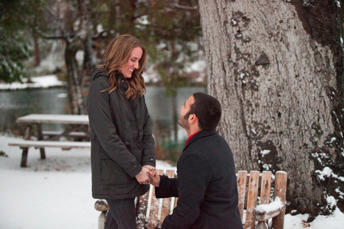 Image 12 of Josh and Natalie | Snowy Surprise Proposal