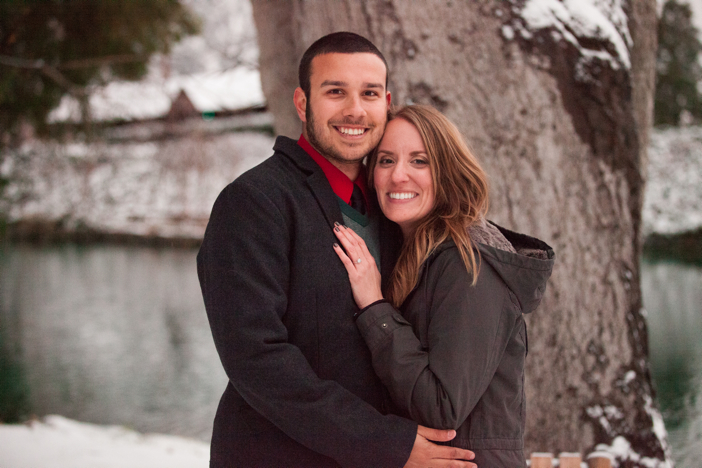 Image 1 of Josh and Natalie | Snowy Surprise Proposal