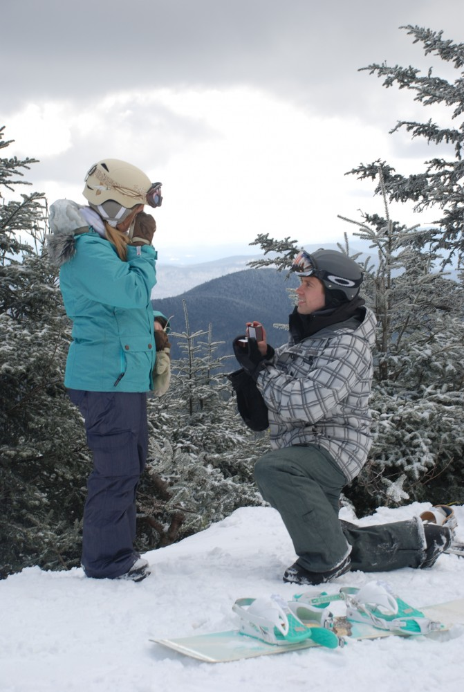 proposal while snowboarding_mountain proposal_snowboard engagement