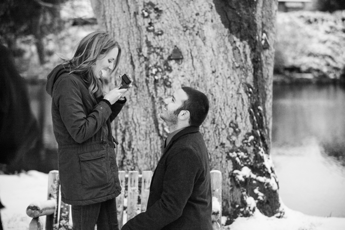 Image 14 of Josh and Natalie | Snowy Surprise Proposal