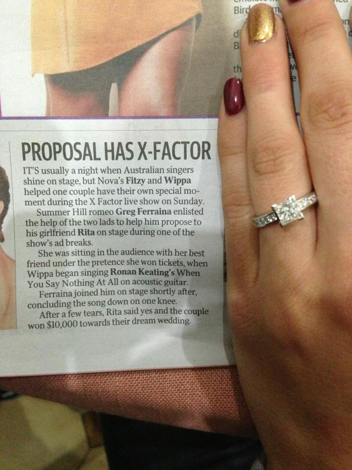 x factor marriage proposal