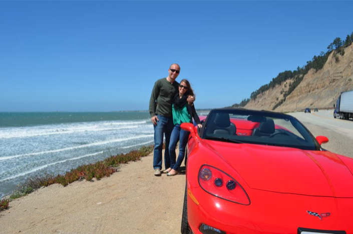 Point Lobos Proposal_Marriage_Wedding Proposal in California_convertible ride to monterey