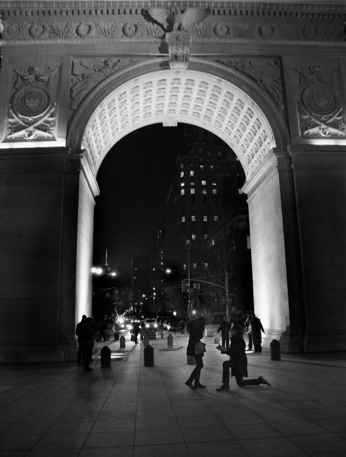 Image 1 of Derek and Steph | Washington Square Park Proposal