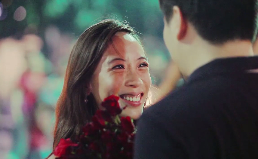 cute proposal face