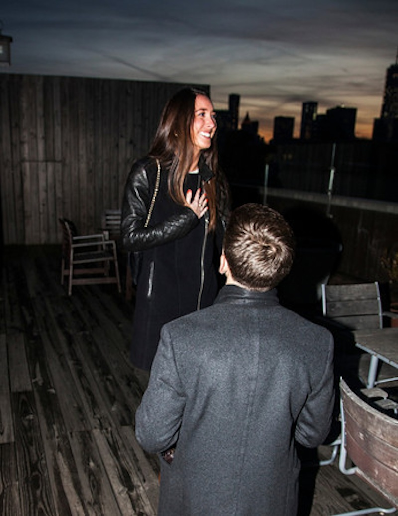 Image 8 of James + Alexa: Rooftop Proposal in New York City