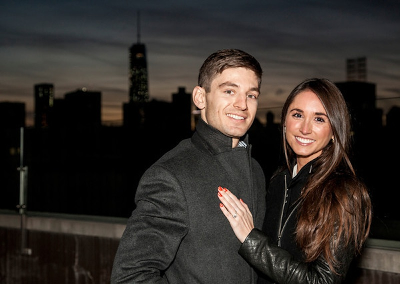 Image 1 of James + Alexa: Rooftop Proposal in New York City