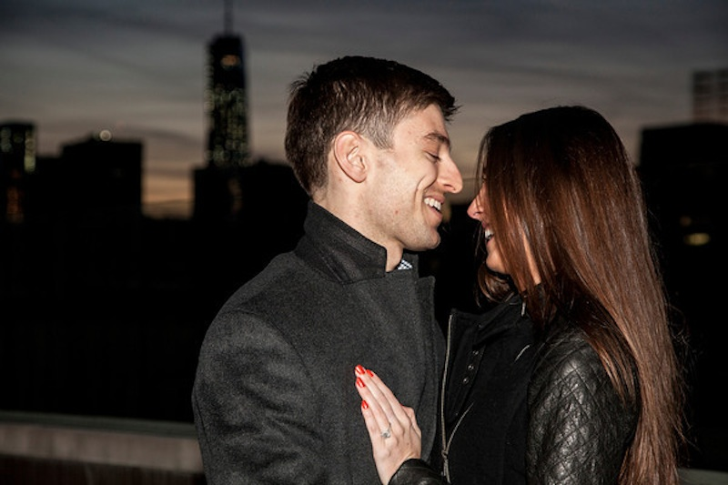 Image 3 of James + Alexa: Rooftop Proposal in New York City