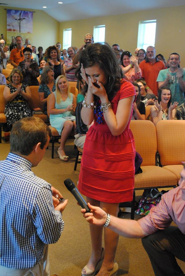 Image 2 of Chad and Emily | Church Announcement Turns into Proposal