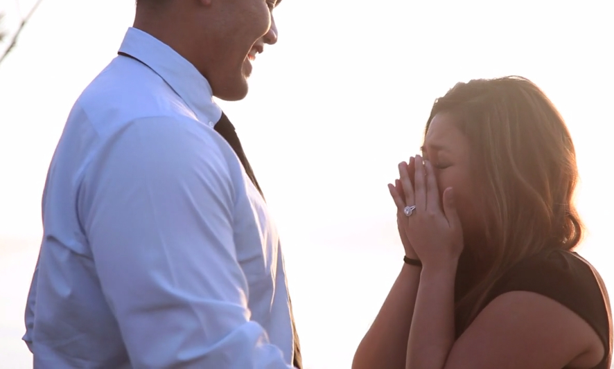 proposal reaction crying