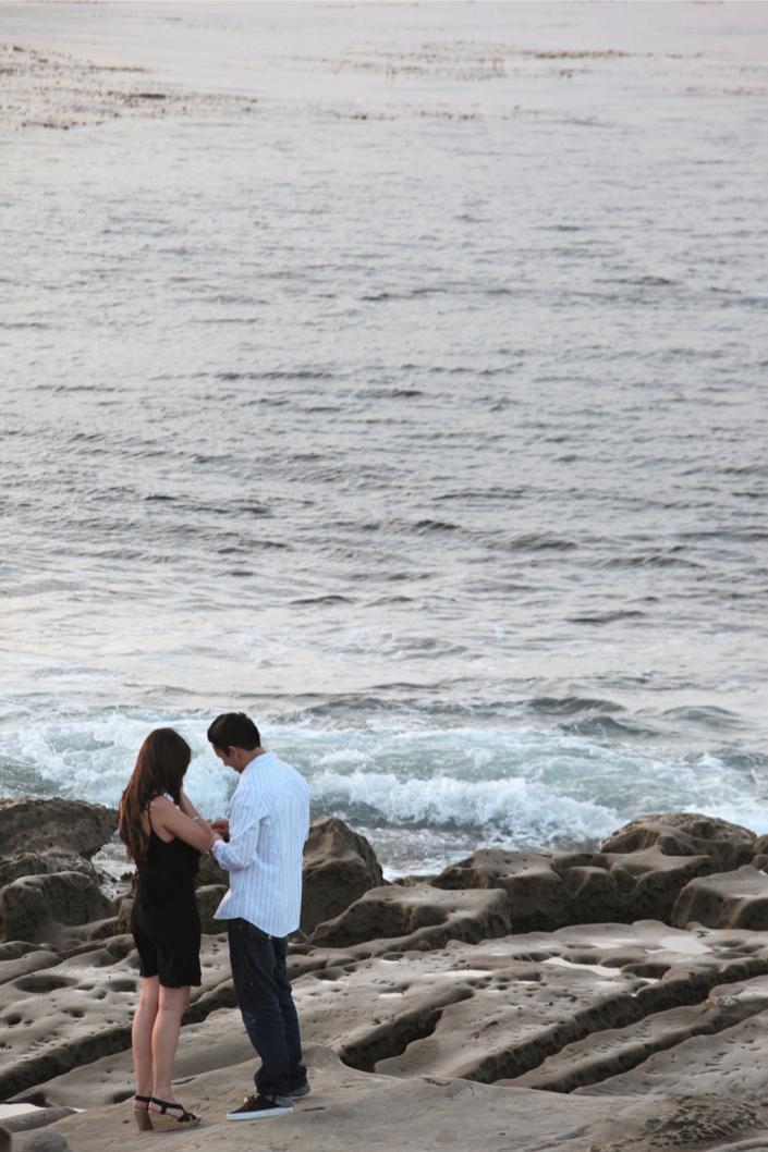 Image 3 of La Jolla Cliffs Proposal | Kaytie and Asafe