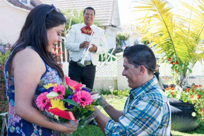 Image 1 of Mariachi Band Surprises Birthday Girl