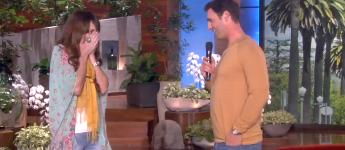 marriage proposal on the ellen show