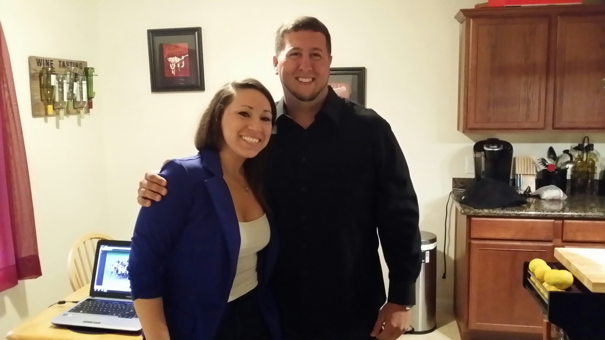 Image 1 of Football Coach Enlists Team to Help with His Proposal