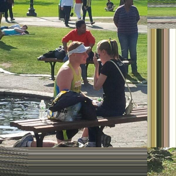 proposal at the boston marathon