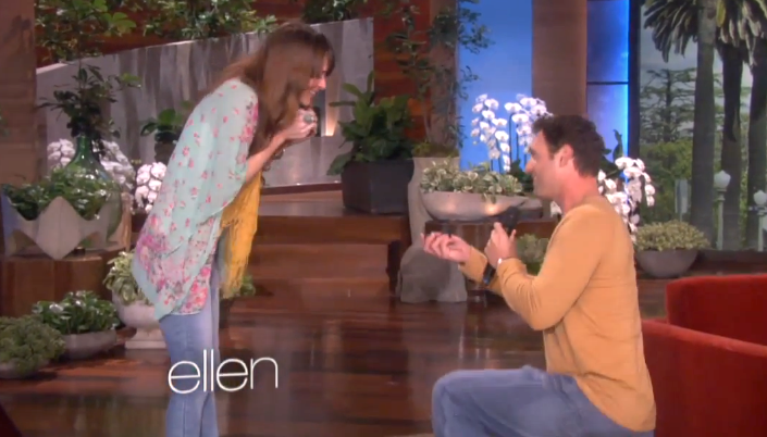 surprise proposal on the ellen show