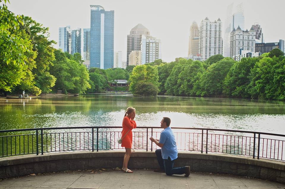 Image 3 of Elizabeth and Nathan | Piedmont Park Proposal in Atlanta
