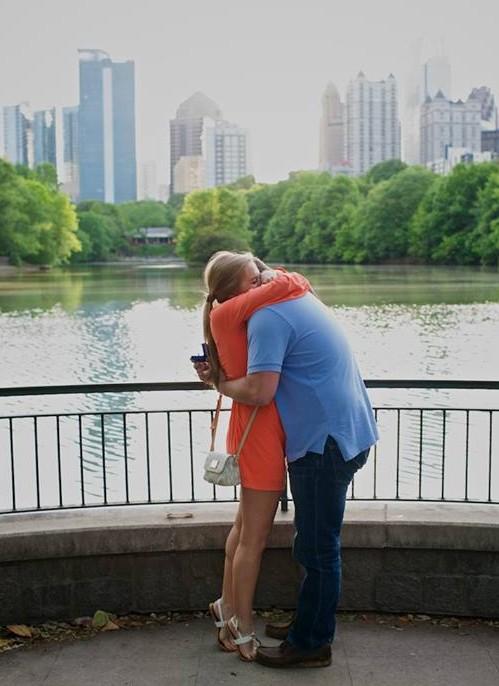 Image 2 of Elizabeth and Nathan | Piedmont Park Proposal in Atlanta