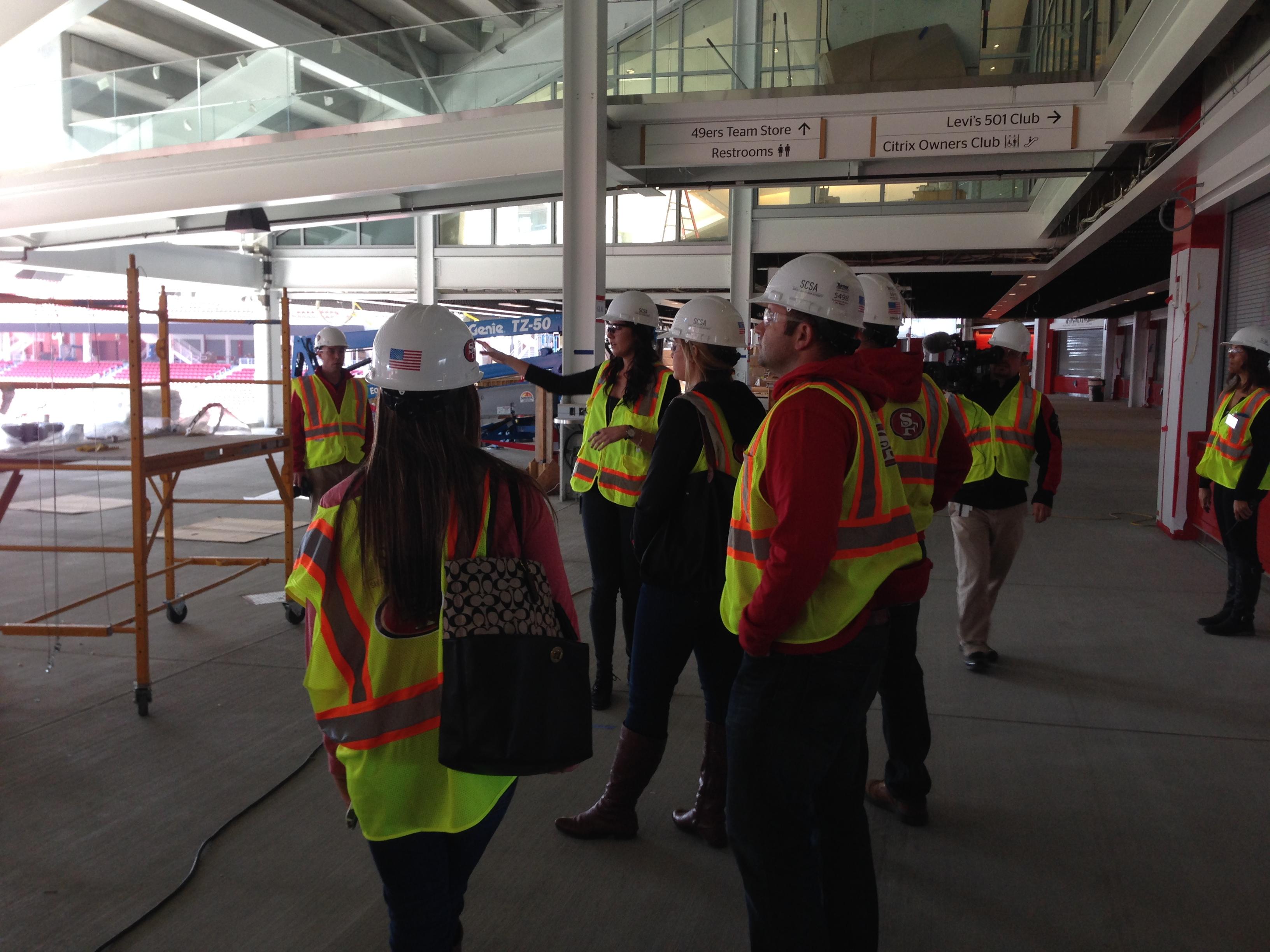 Image 4 of Scott & Sarah: 49ers Fan Proposes in New Stadium
