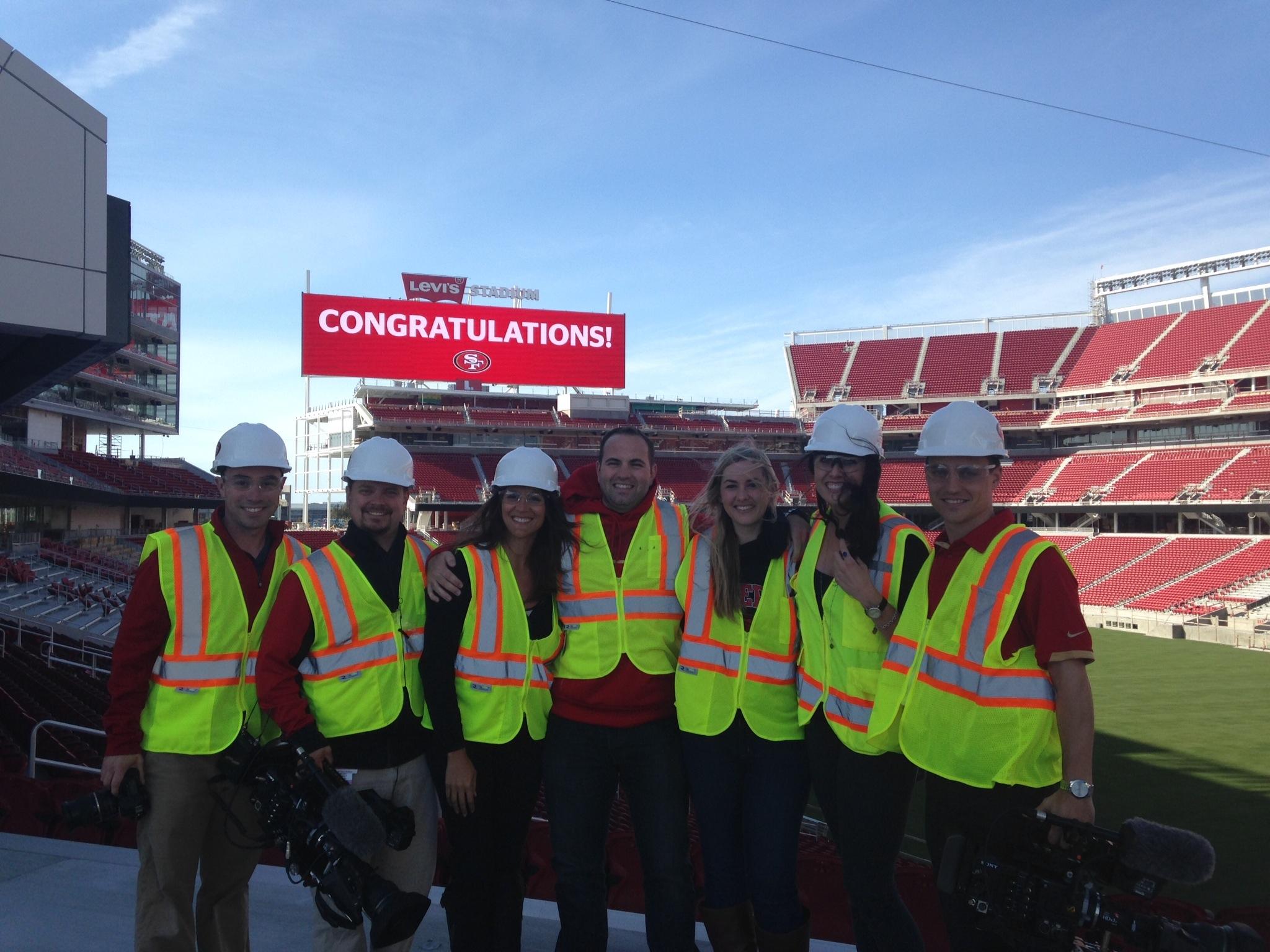 Image 8 of Scott & Sarah: 49ers Fan Proposes in New Stadium