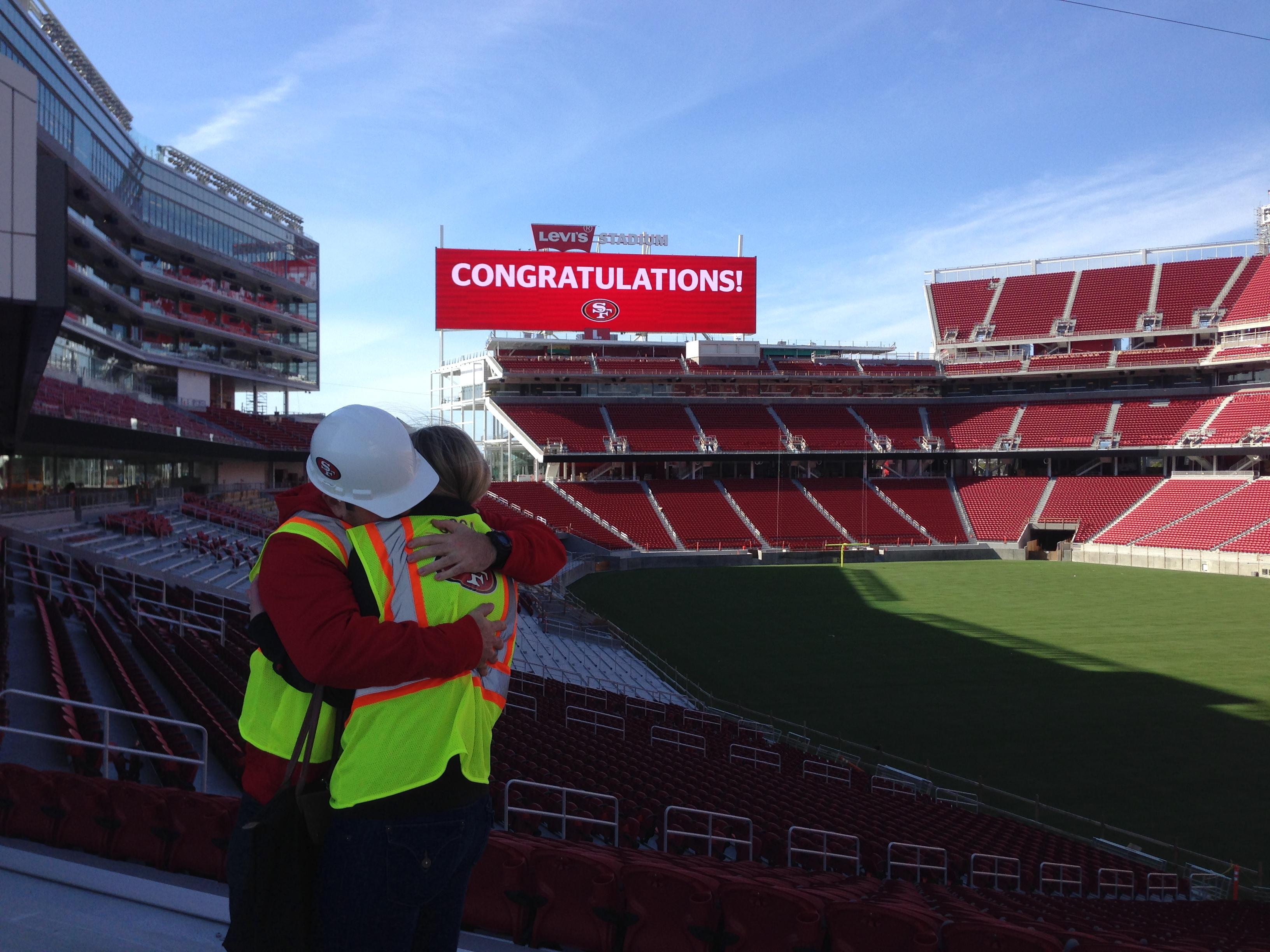 Image 7 of Scott & Sarah: 49ers Fan Proposes in New Stadium